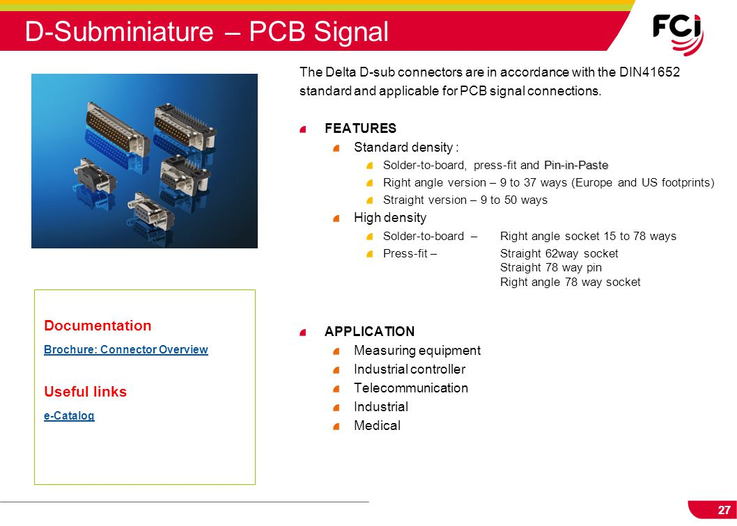 D-Subminiature – PCB Signal