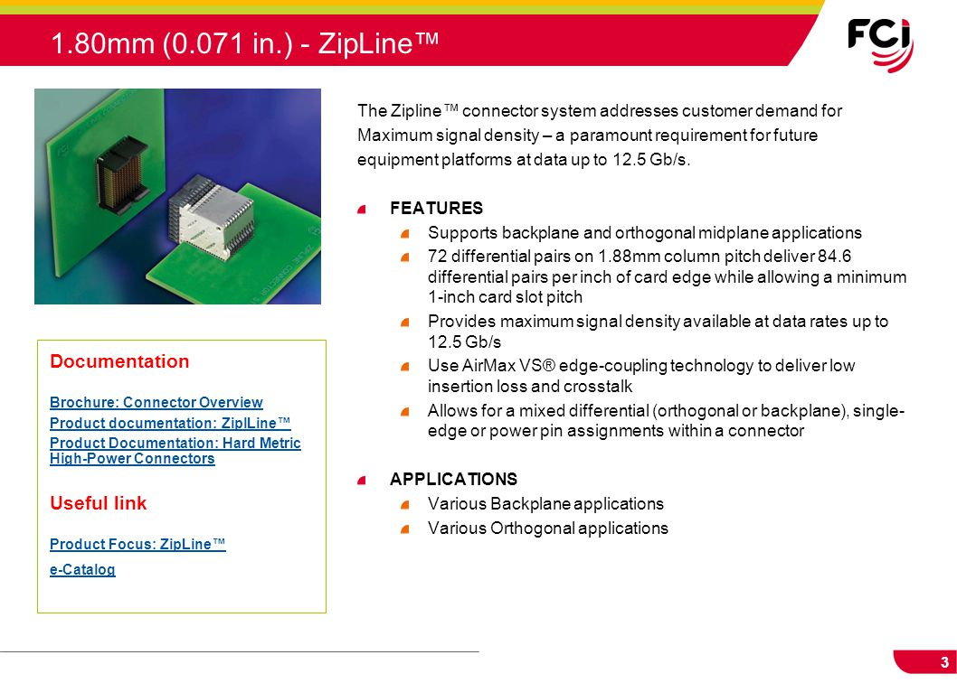 1.80mm (0.071 in.) - ZipLine™ Documentation Useful link