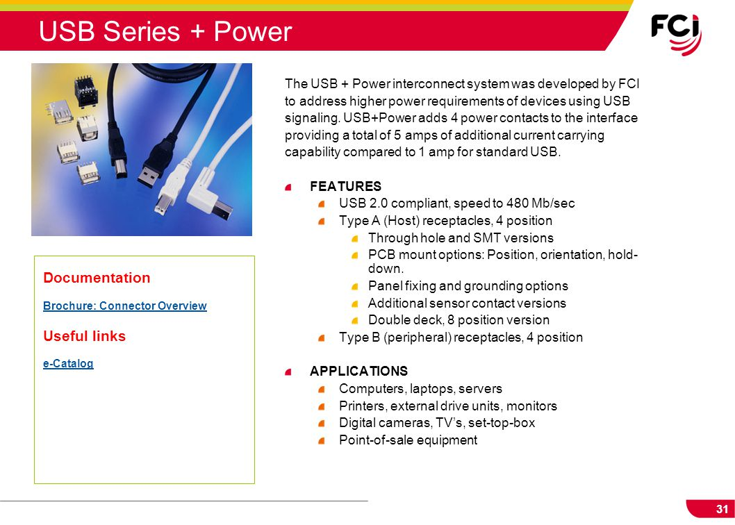 USB Series + Power Documentation Useful links
