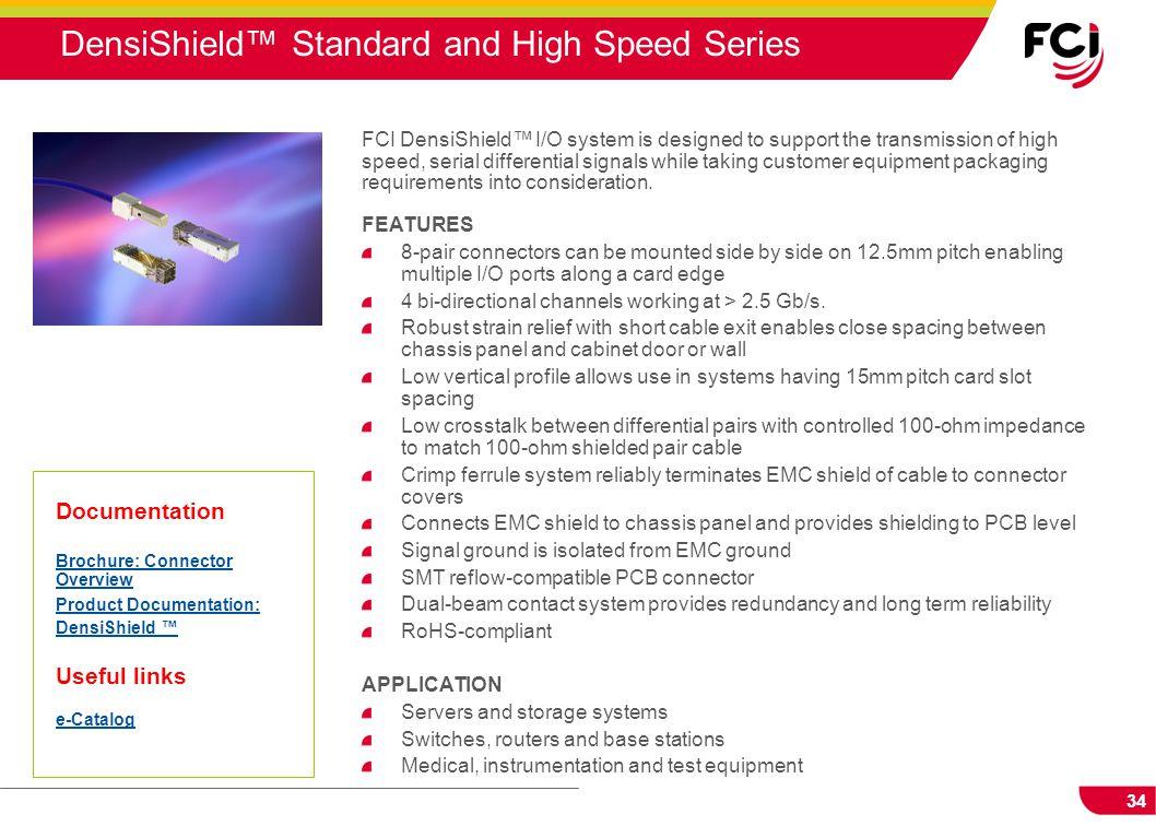 DensiShield™ Standard and High Speed Series