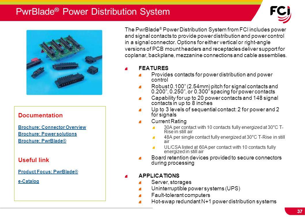 PwrBlade® Power Distribution System