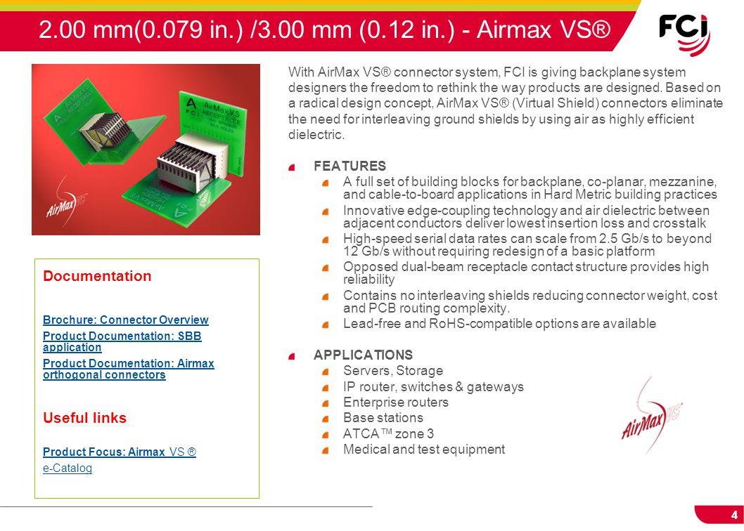 2.00 mm(0.079 in.) /3.00 mm (0.12 in.) - Airmax VS®