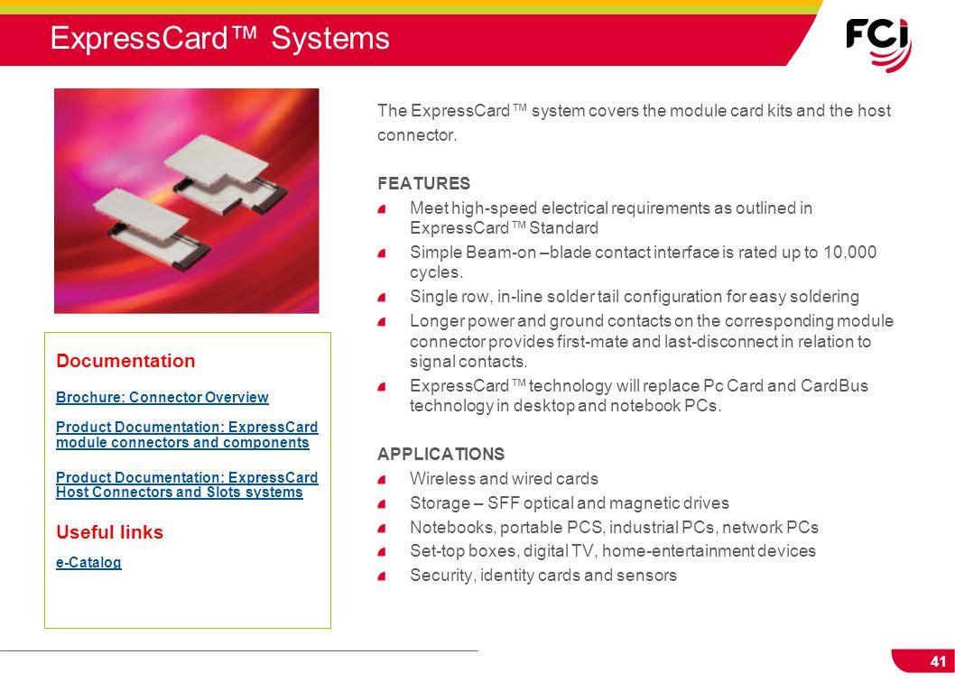 ExpressCard™ Systems Documentation Useful links