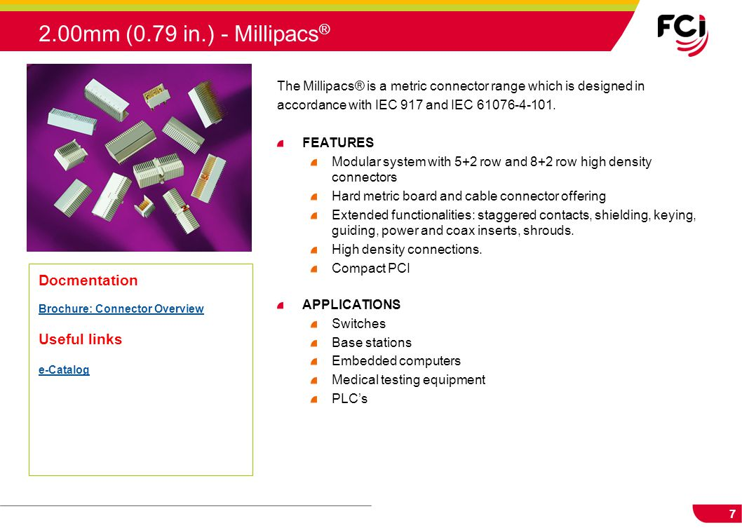 2.00mm (0.79 in.) - Millipacs® Docmentation Useful links