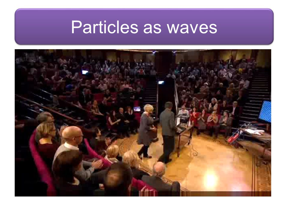 Particles as waves