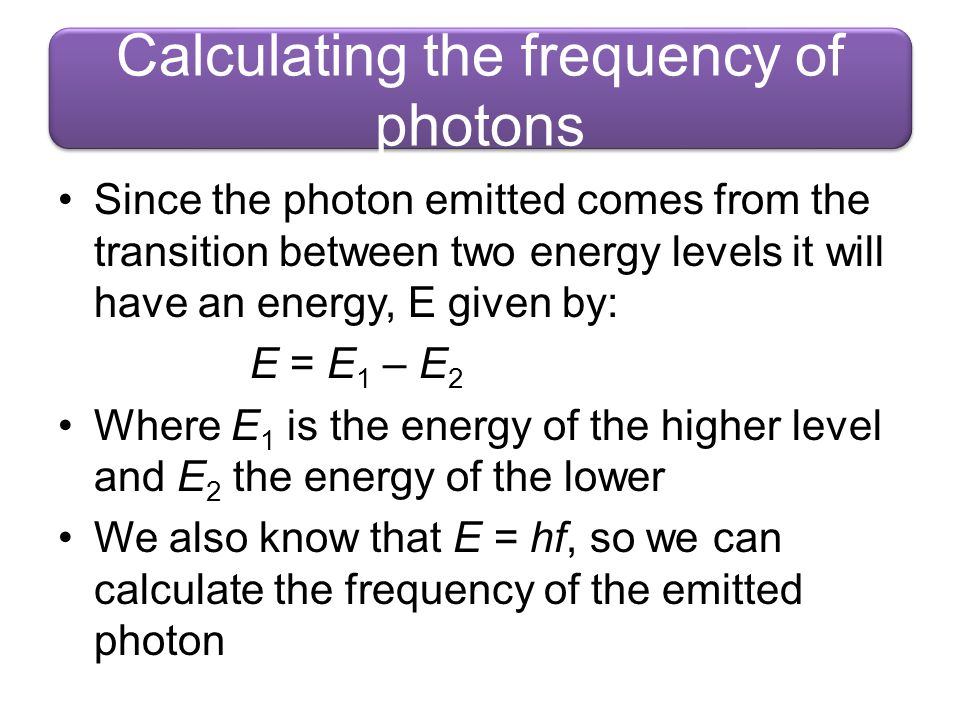 Calculating the frequency of photons