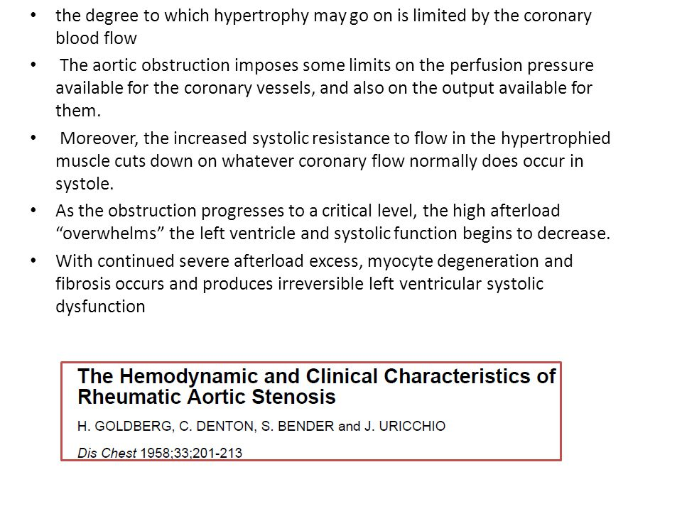 the degree to which hypertrophy may go on is limited by the coronary blood flow