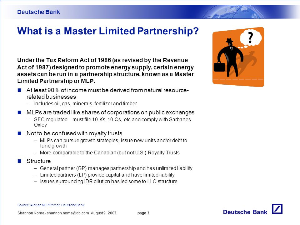 What is a Master Limited Partnership
