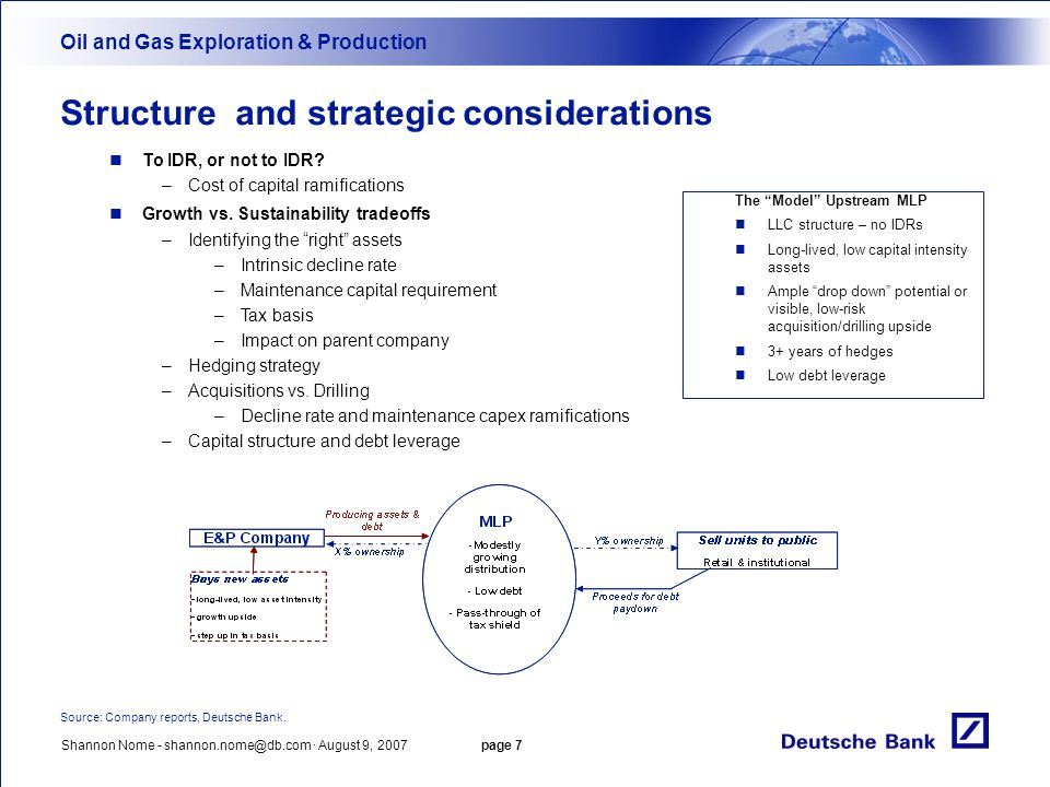 Structure and strategic considerations
