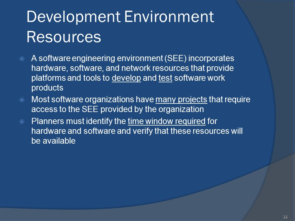 Development Environment Resources