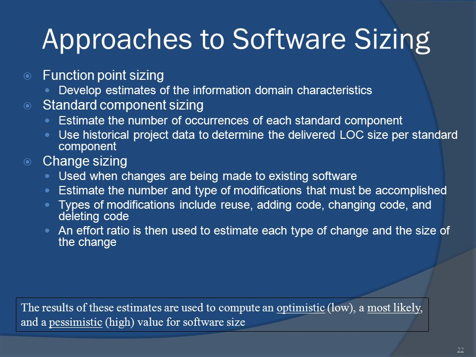 Approaches to Software Sizing