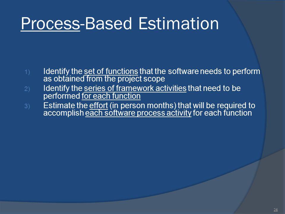 Process-Based Estimation