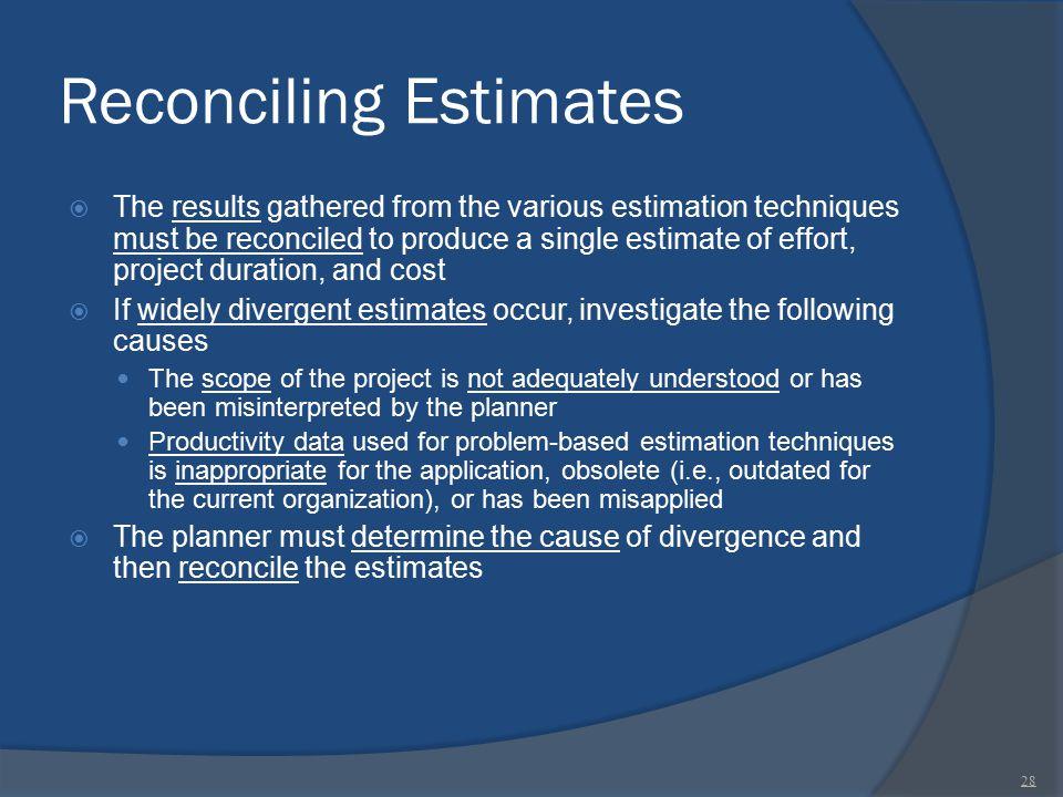 Reconciling Estimates