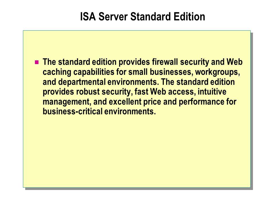 ISA Server Standard Edition