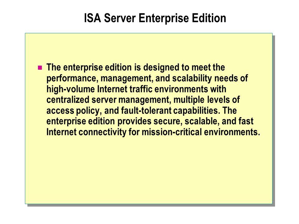 ISA Server Enterprise Edition