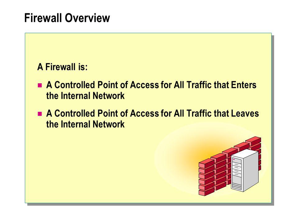 Firewall Overview A Firewall is: