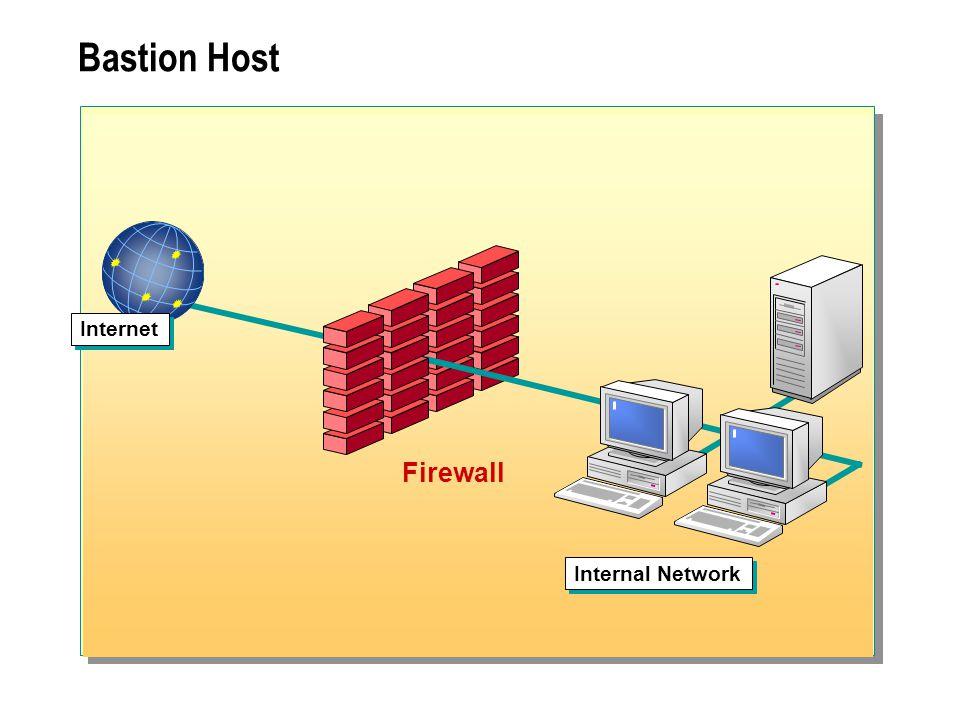 Bastion Host Internet Firewall Internal Network