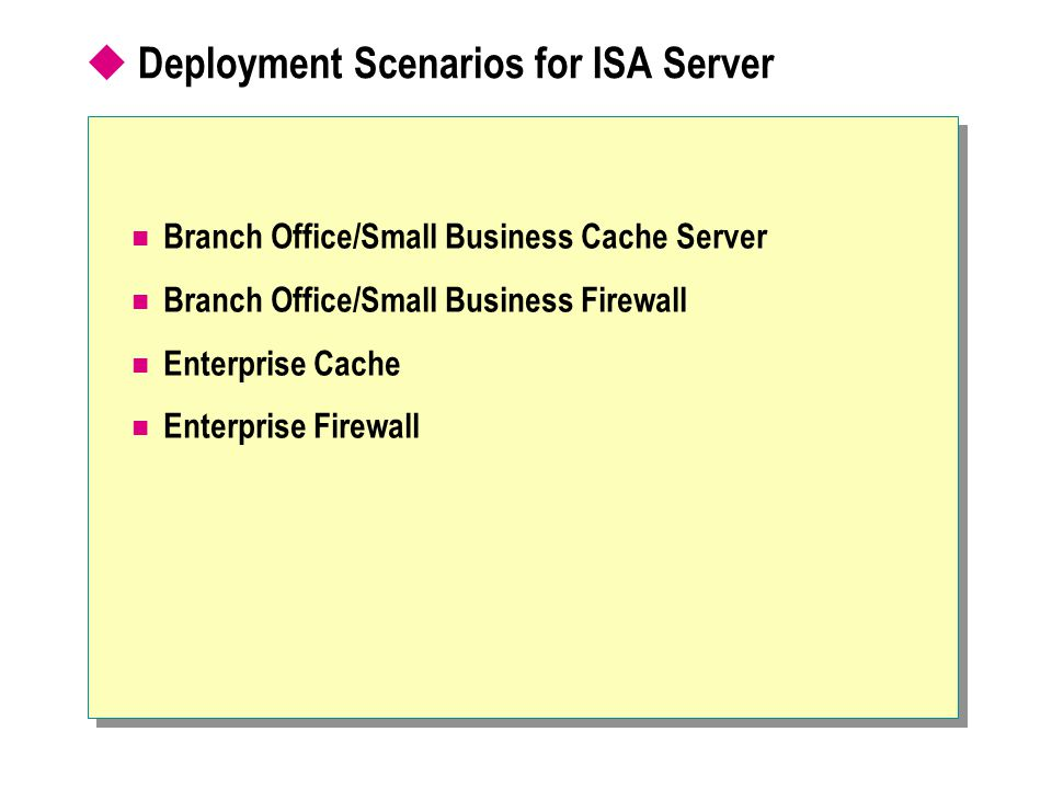 Deployment Scenarios for ISA Server