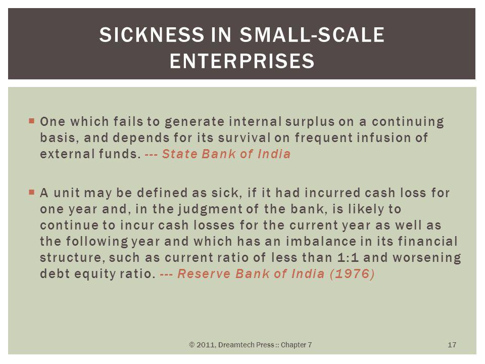 Sickness in Small-Scale Enterprises