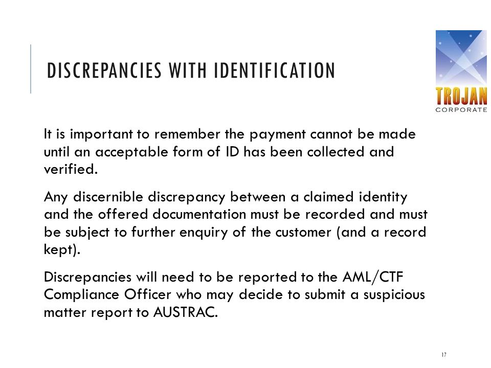 Discrepancies with Identification