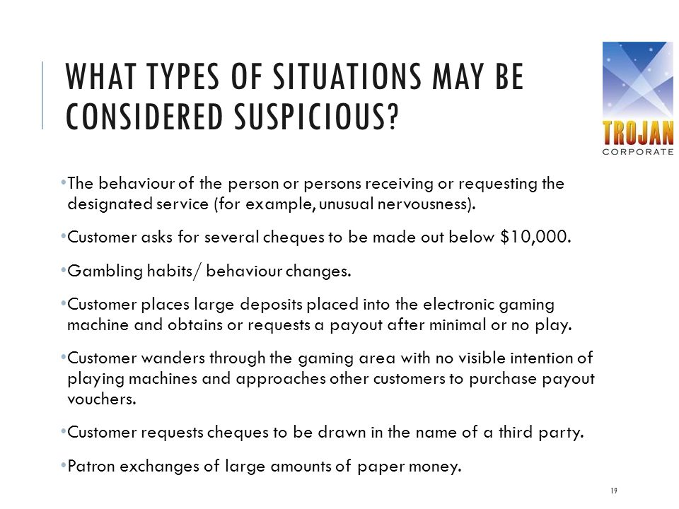 What types of situations may be considered suspicious