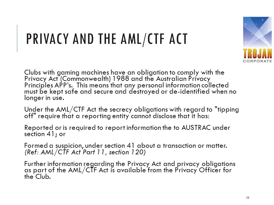 Privacy and the AML/CTF Act