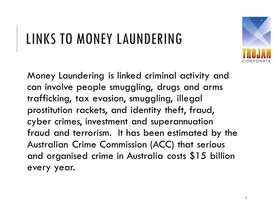 Links to money laundering