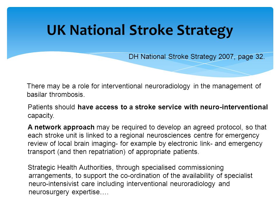 UK National Stroke Strategy