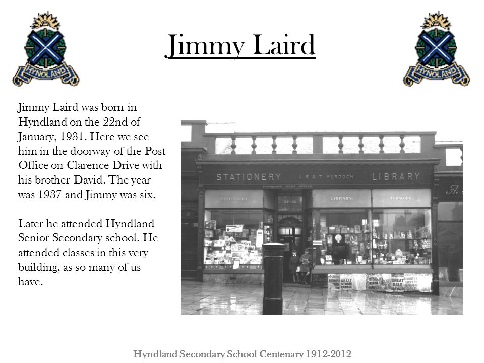 Hyndland Secondary School Centenary 1912-2012