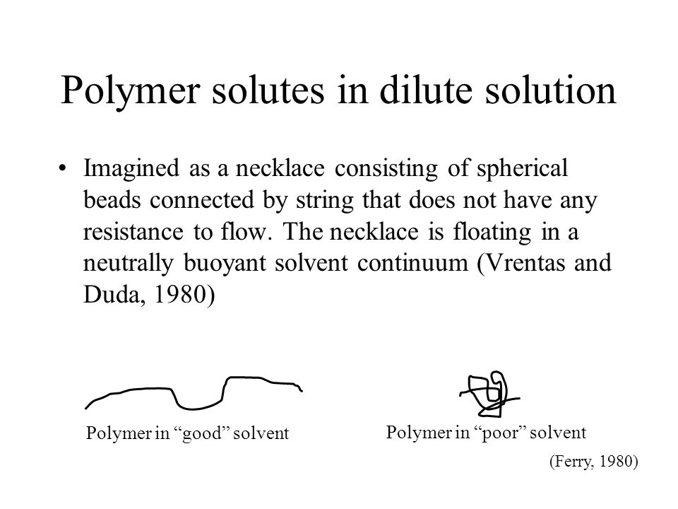 Polymer solutes in dilute solution