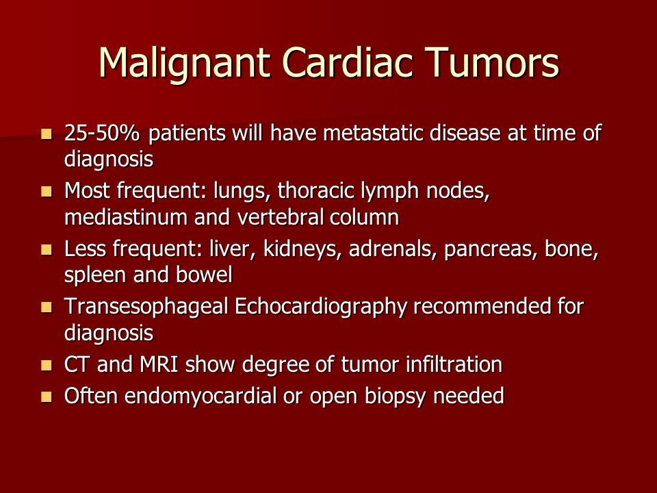 Malignant Cardiac Tumors