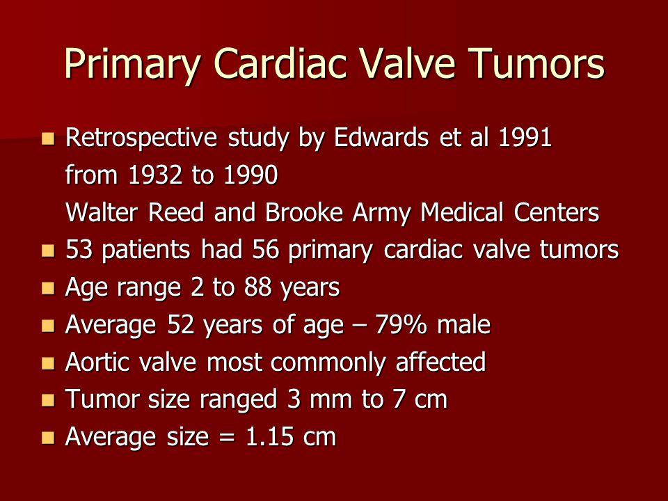 Primary Cardiac Valve Tumors