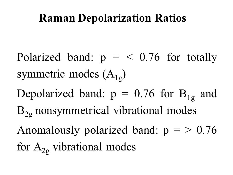 Raman Depolarization Ratios