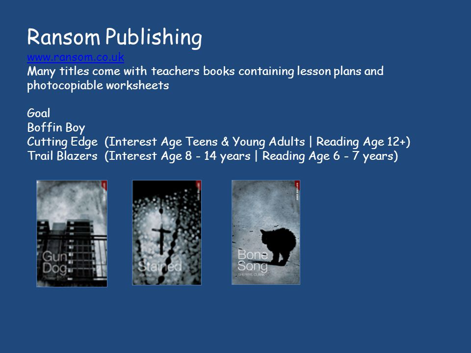 Ransom Publishing www.ransom.co.uk