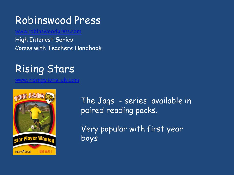 Robinswood Press Rising Stars