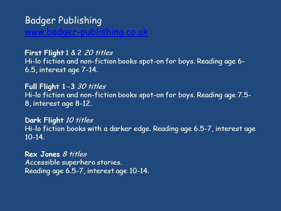 Badger Publishing www.badger-publishing.co.uk