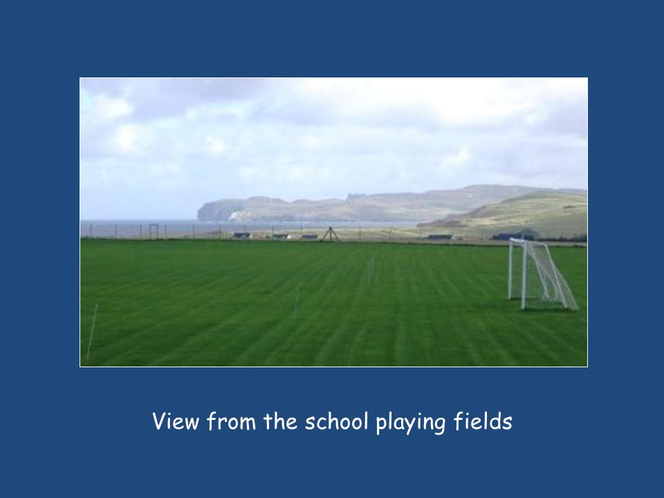 View from the school playing fields