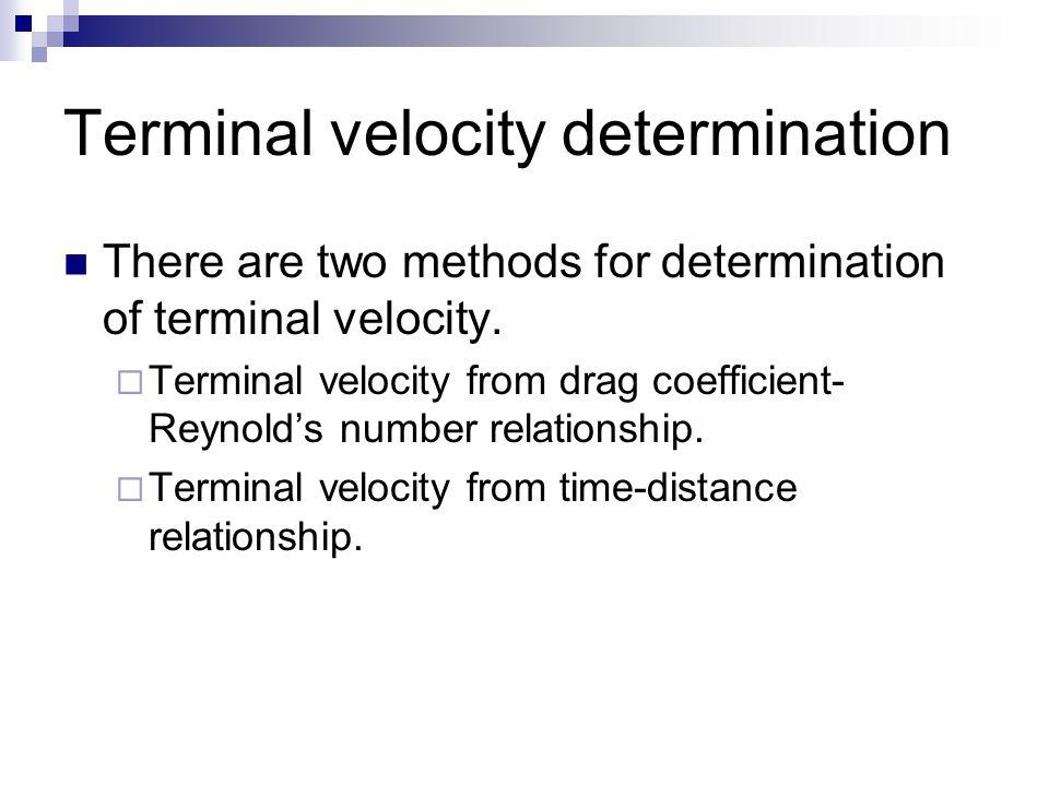 Terminal velocity determination