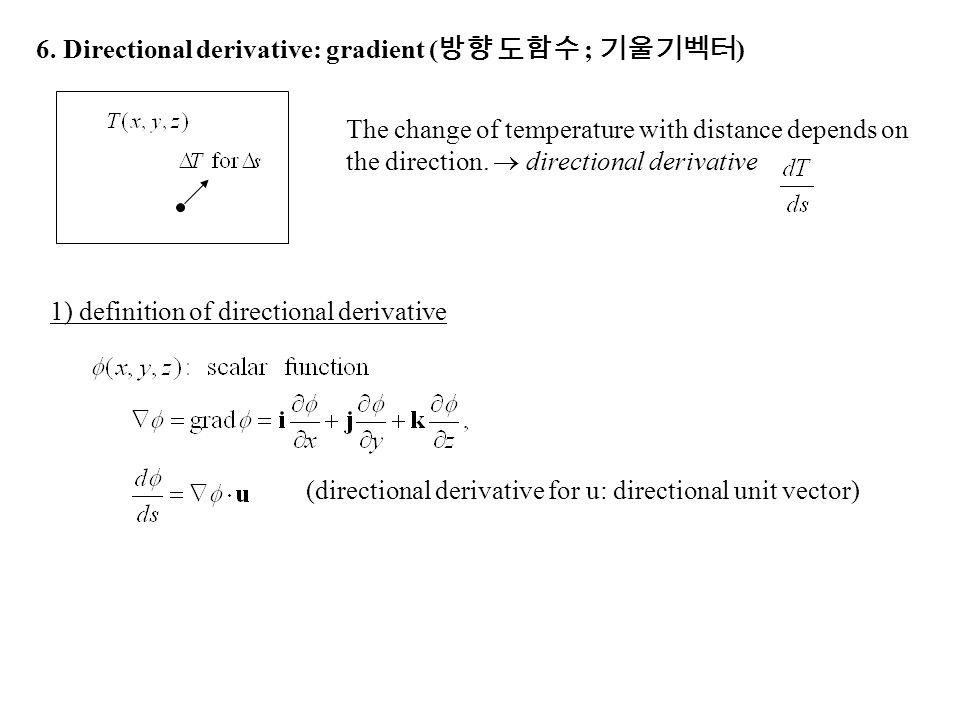 6. Directional derivative: gradient (방향 도함수 ; 기울기벡터)