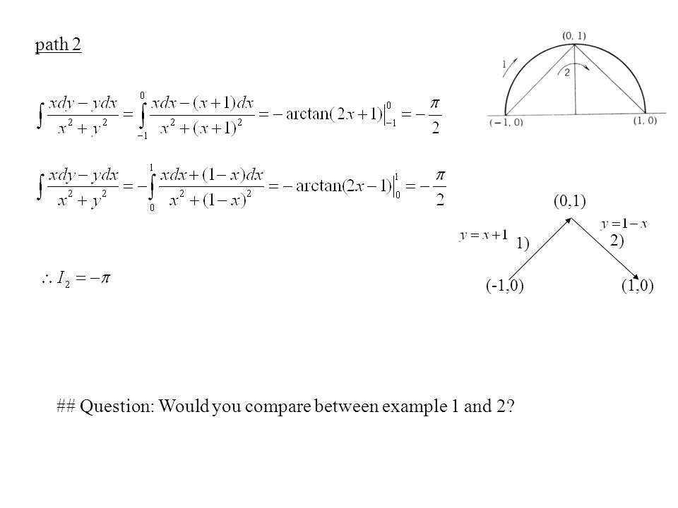 ## Question: Would you compare between example 1 and 2