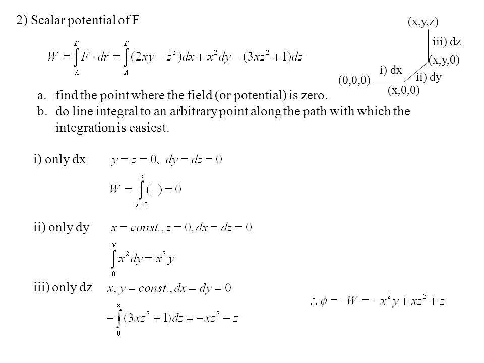 find the point where the field (or potential) is zero.