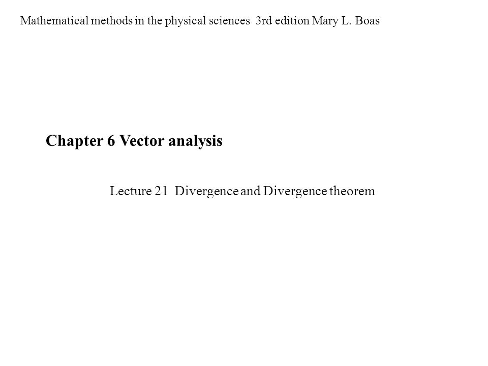 Chapter 6 Vector analysis