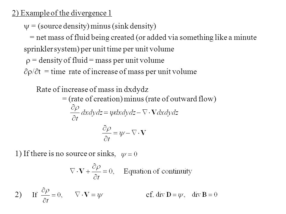 2) Example of the divergence 1