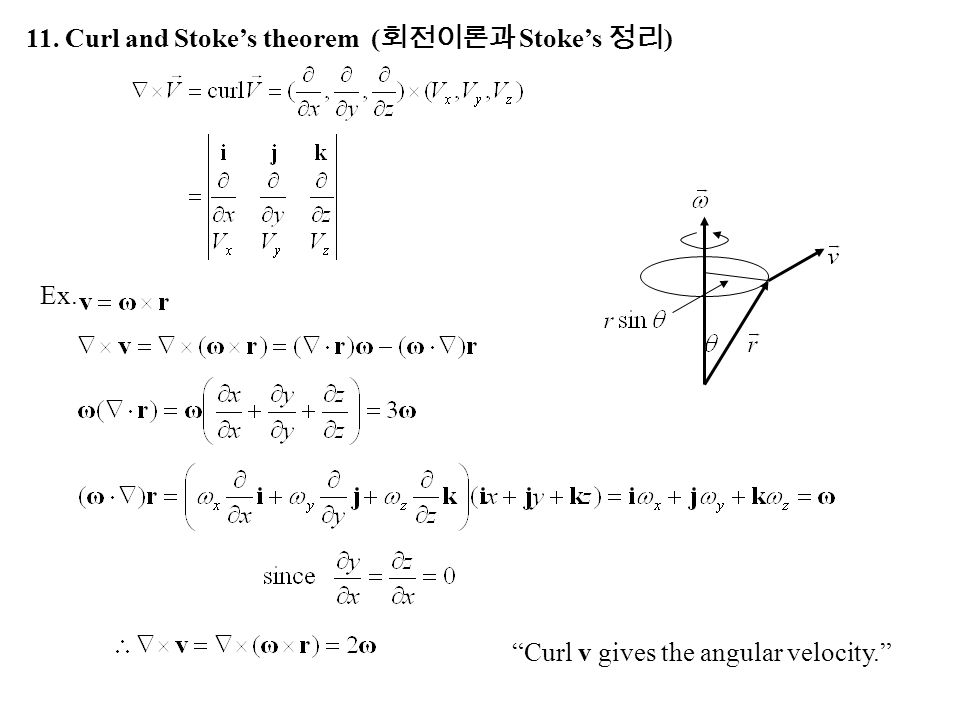 11. Curl and Stoke's theorem (회전이론과 Stoke's 정리)
