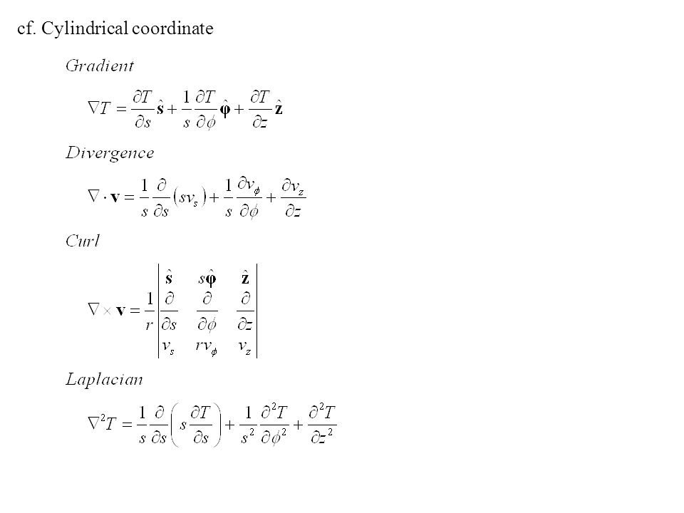 cf. Cylindrical coordinate