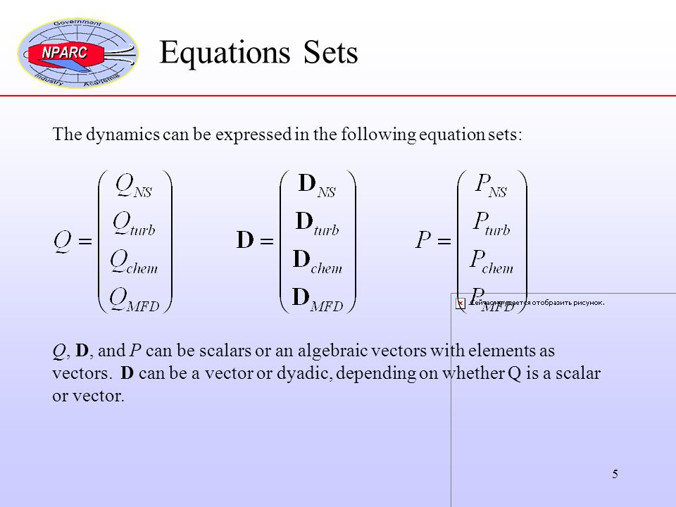 Equations Sets The dynamics can be expressed in the following equation sets: Q, D, and P can be scalars or an algebraic vectors with elements as.