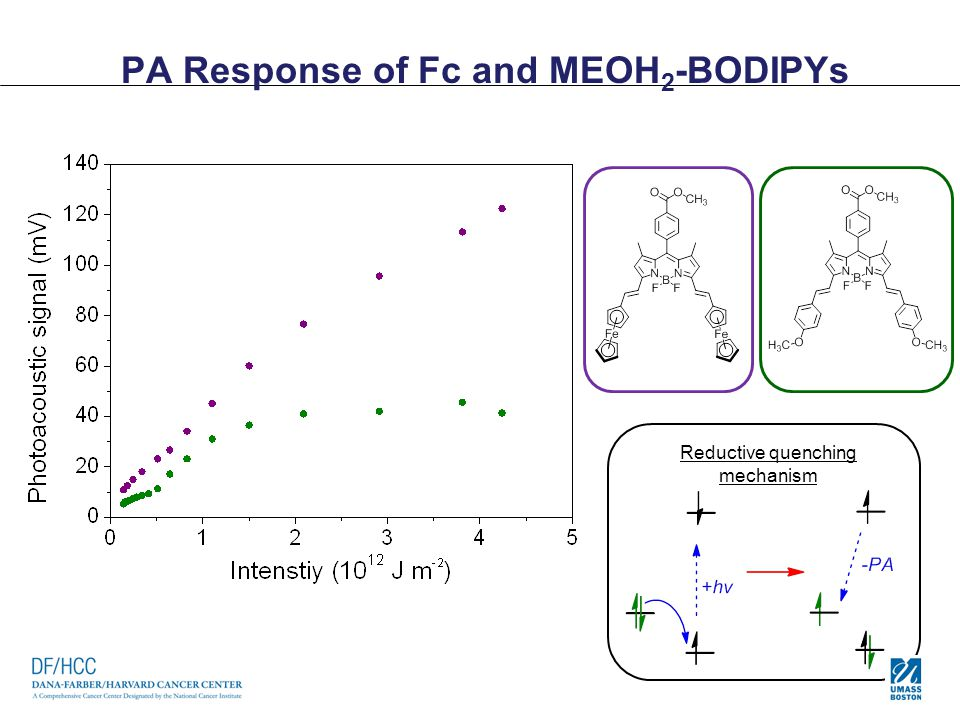 PA Response of Fc and MEOH2-BODIPYs