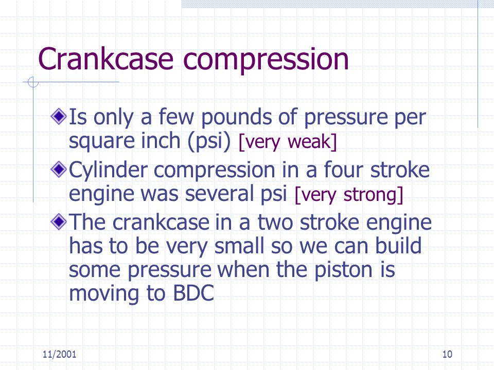 Crankcase compression