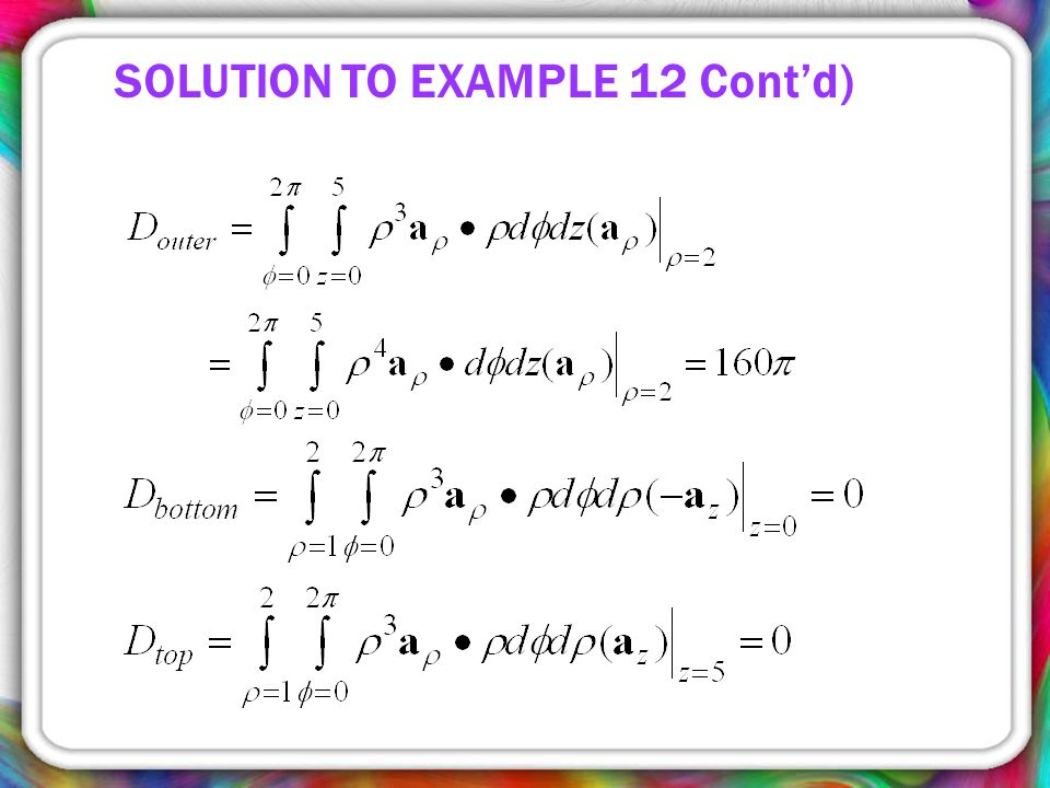 SOLUTION TO EXAMPLE 12 Cont'd)
