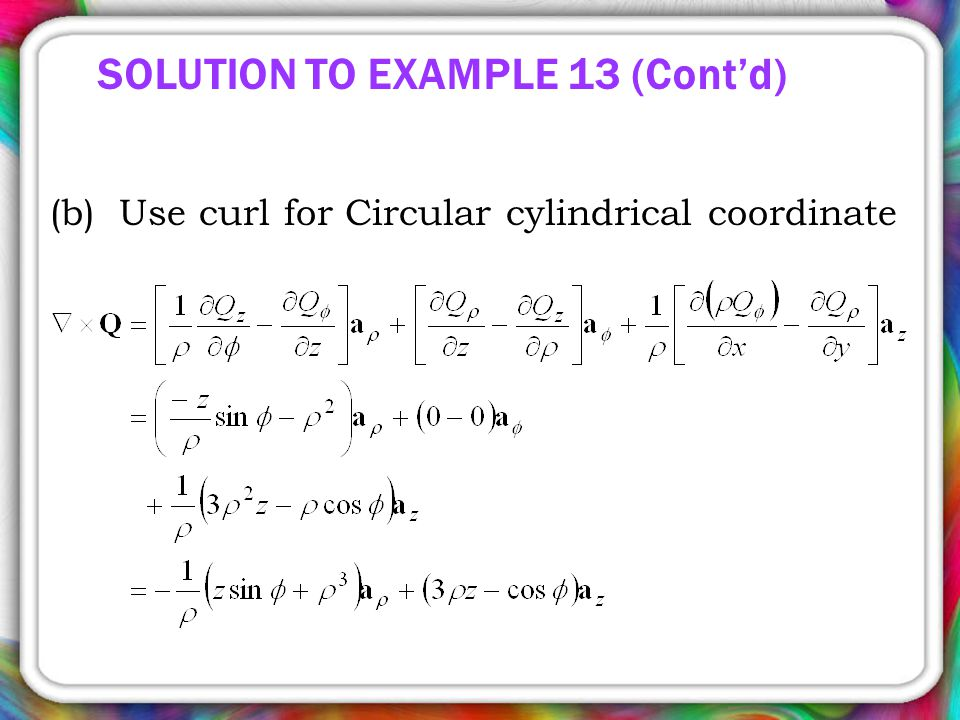 SOLUTION TO EXAMPLE 13 (Cont'd)